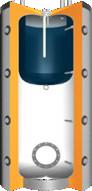 Buffert met boiler en 100mm isolatie