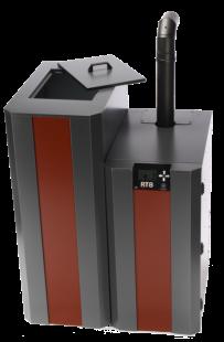 NBE RTB 10 kW met 120 kg pelletreservoir