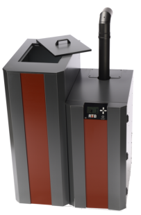 NBE RTB 10 kW met 320 kg pelletreservoir