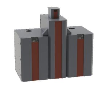 NBE RTB cascade 10-30 kW pelletreservoir 220 kilo
